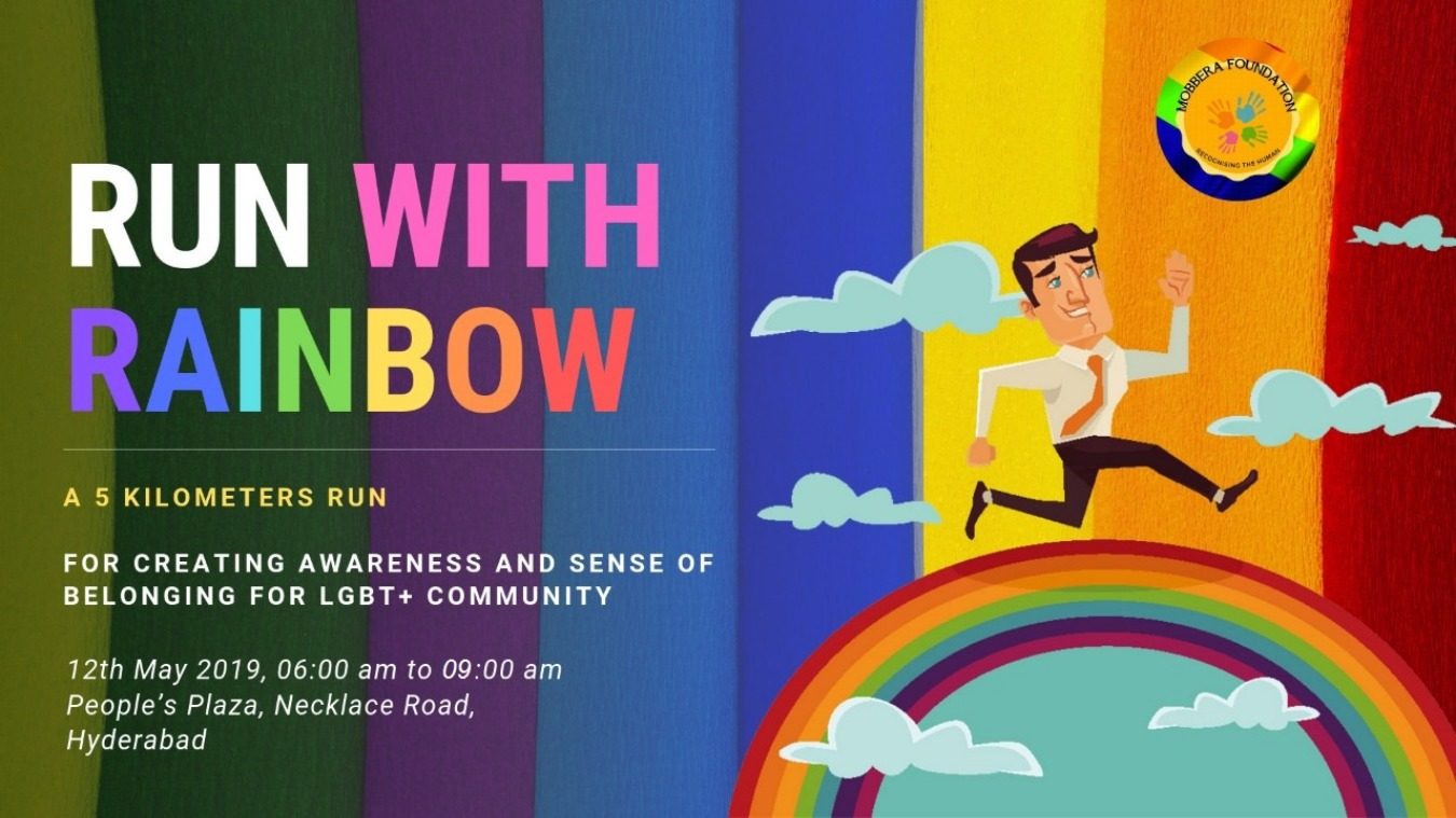 Run With Rainbow- 5k Run Tickets by Mobbera Foundation, 12 May, 2019,  Hyderabad Event