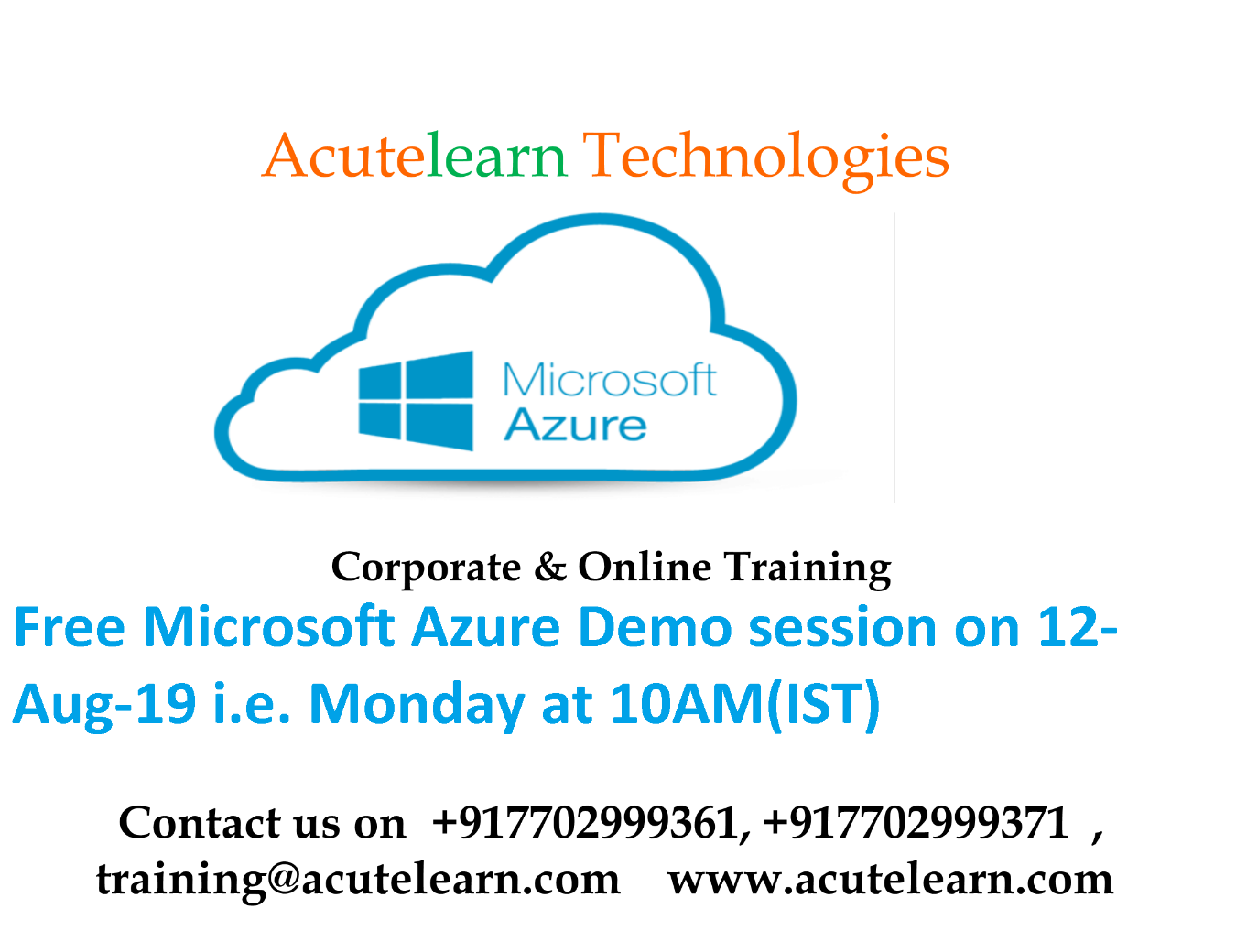 Microsoft Azure Training Institute in Hyderabad--AcuteLearn