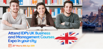 IDP's UK Business and Management Courses Expo in Ahmedabad! | Event in Ahmedabad | Townscript