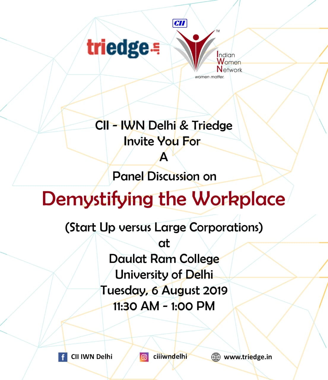 TriEdge | Jobs & Internship Fair for students & professionals ::