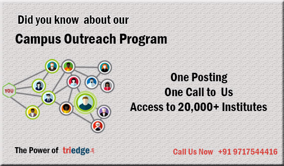 Triedge-Campus and Brand Ambassador,Live Projects,Internships,Student Experience