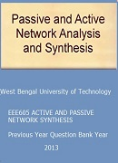 EEE605 ACTIVE AND PASSIVE NETWORK SYNTHESIS