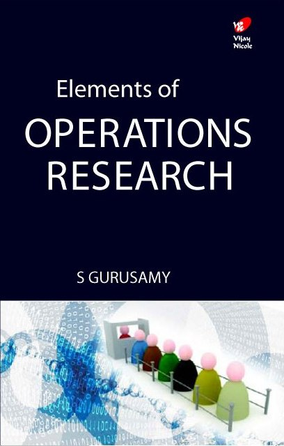 Elements of Operations Research