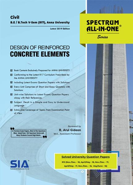 Design of Reinforced Cement Concrete Elements (Anna Univ)