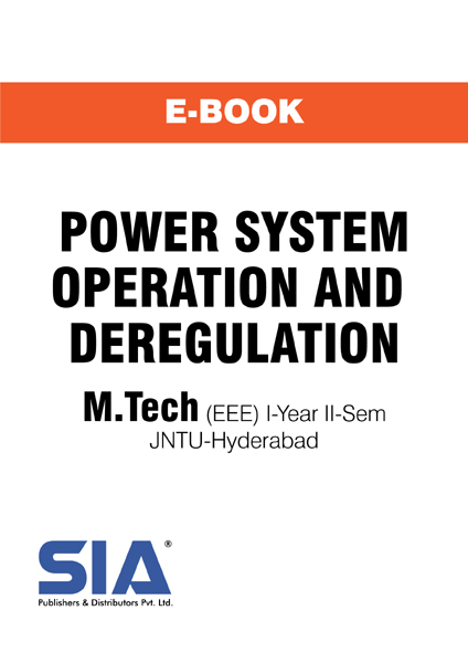 Power System Operation and Deregulation (JNTU-H)