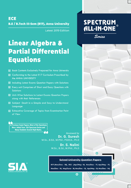 Linear Algebra and Partial Differential Equations (Anna Univ)