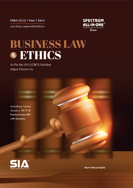 Business Law and Ethics (Open Elective-I) (O.U)