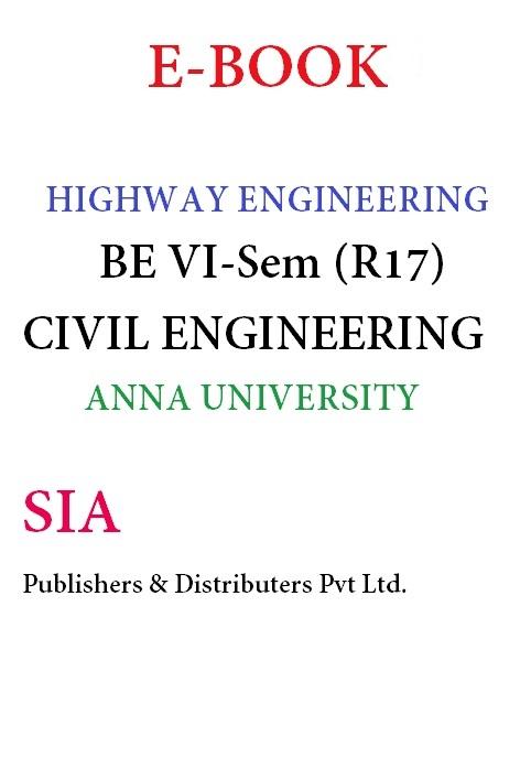Highway Engineering (Anna Univ)