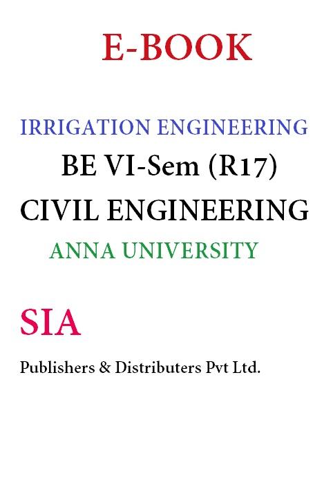 Irrigation Engineering (Anna Univ)