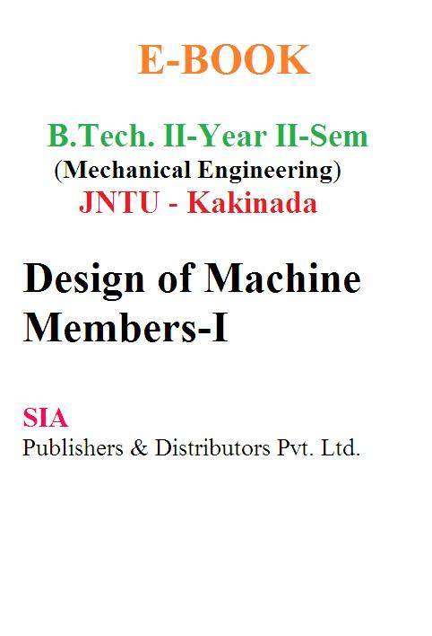 Design of Machine Members-I (JNTU-K)