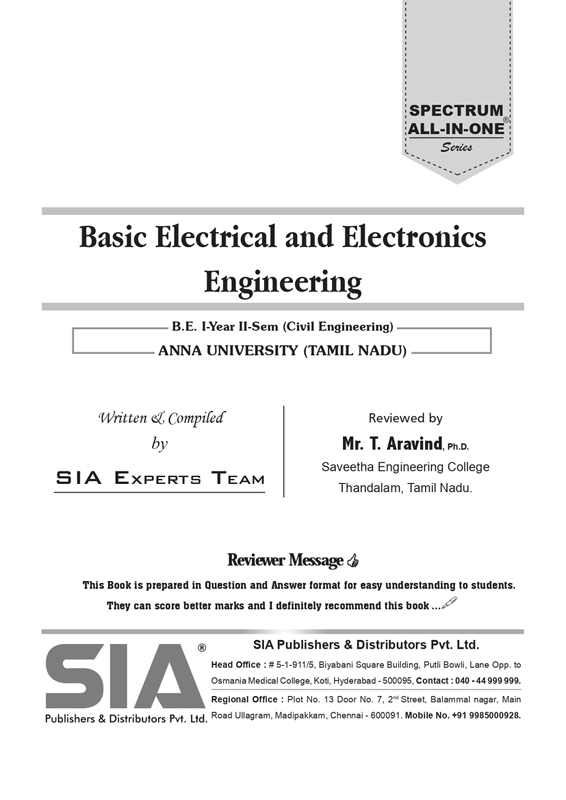 Basic Electrical and Electronics Engineering (Anna Univ)
