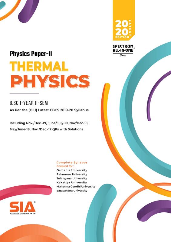 Physics Paper-II (Thermal Physics) (OU)