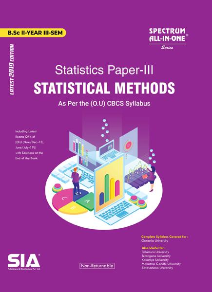 Statistical Methods (Statistical Paper-III)