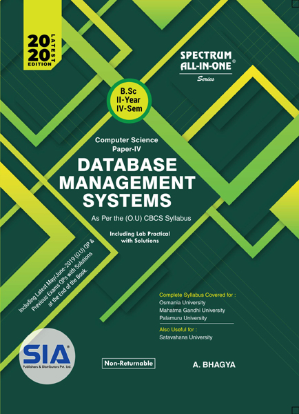 Database Management Systems (Computer Science - IV)