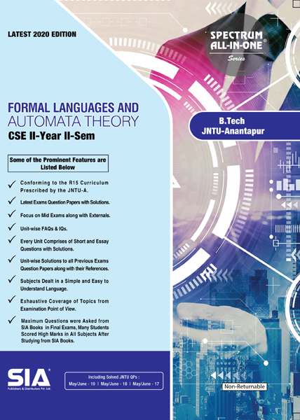 Formal Languages And Automata Theory (JNTU-A)