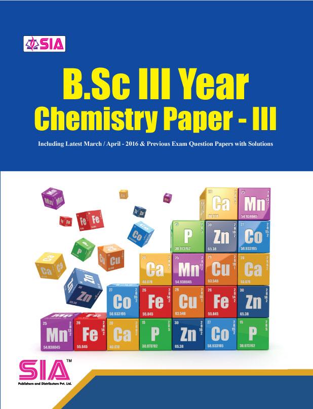 Chemistry Paper-III Chemistry-III