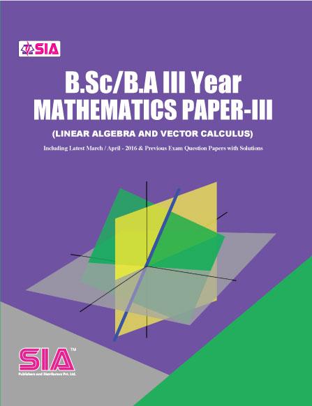 Mathematics Paper-III ( Linear Algebra & Vector Calculus)