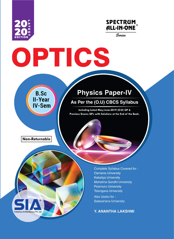 Physics Paper-IV (Optics) (OU)