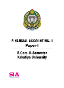 Financial Accounting-II (Paper-I) QP