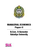 Managerial Economics (Paper-II) QP