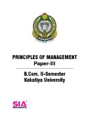 Principles of Management (Paper-III) QP