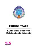 Foreign Trade QP
