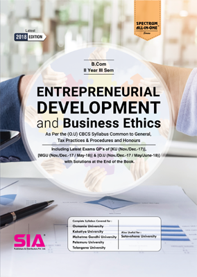 Entrepreneurial Development and Business Ethics