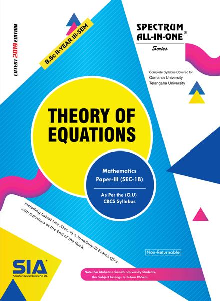 Theory of Equations (O.U)