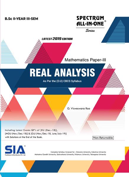 Real Analysis (Mathematics Paper - III)