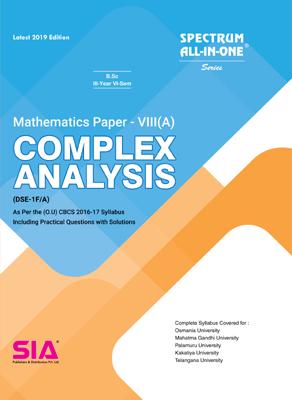 Complex Analysis (Mathematics Paper- VIII (A)