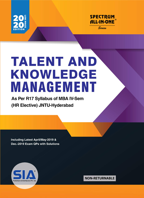 Talent and Knowledge Management (HR-Elective)