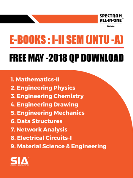 B.Tech I-II (ALL SUBJECTS) MAY-2018 QP WITH SOLUTIONS [JNTU-ANANTAPUR]