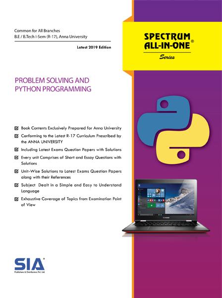 Problem Solving and Python Programming (Anna Univ)