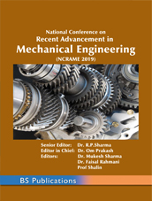 RECENT ADVANCEMENT IN MECHANICAL ENGINEERING  (NCRAME 2019)