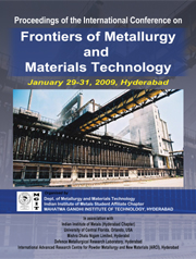PROCEEDINGS of the International Conference on Frontiers of Metallurgy and Materials Technology