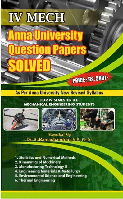 4th Sem Mechanical Engineering Question Bank