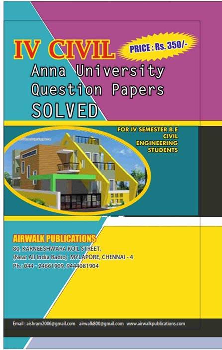4th Semester Civil Question Paper