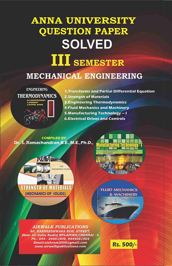3rd Semester Mechanical Engineering Question Bank