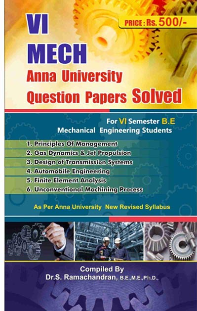 6th Semester Mechanical Engineering Question Bank