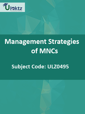 Management Strategies of MNCs