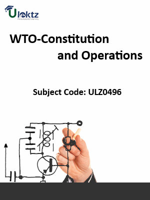 WTO-Constitution and Operations