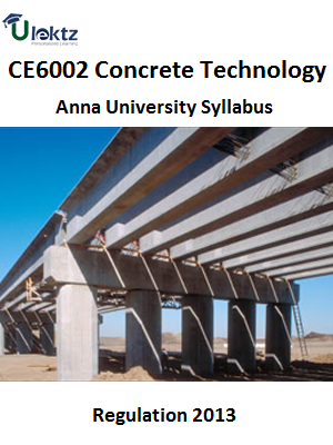 Concrete Technology Syllabus