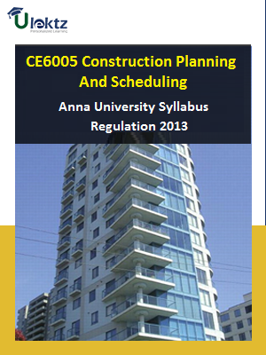 Construction Planning and Scheduling Syllabus