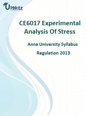 Experimental Analysis of Stress Syllabus