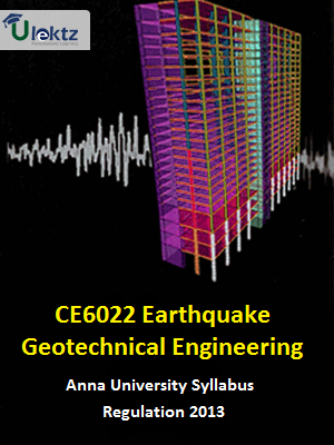 Earthquake Geotechnical Engineering Syllabus