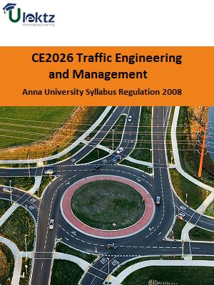 Traffic Engineering and Management Syllabus