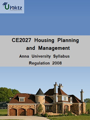 Housing Planning and Management Syllabus