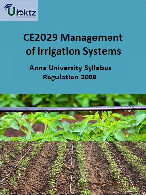 Management of Irrigation Systems Syllabus