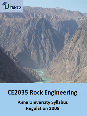 Rock Engineering Syllabus