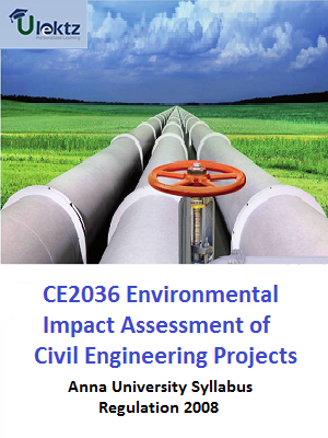 Environmental Impact Assessment of Civil Engineering Projects Syllabus